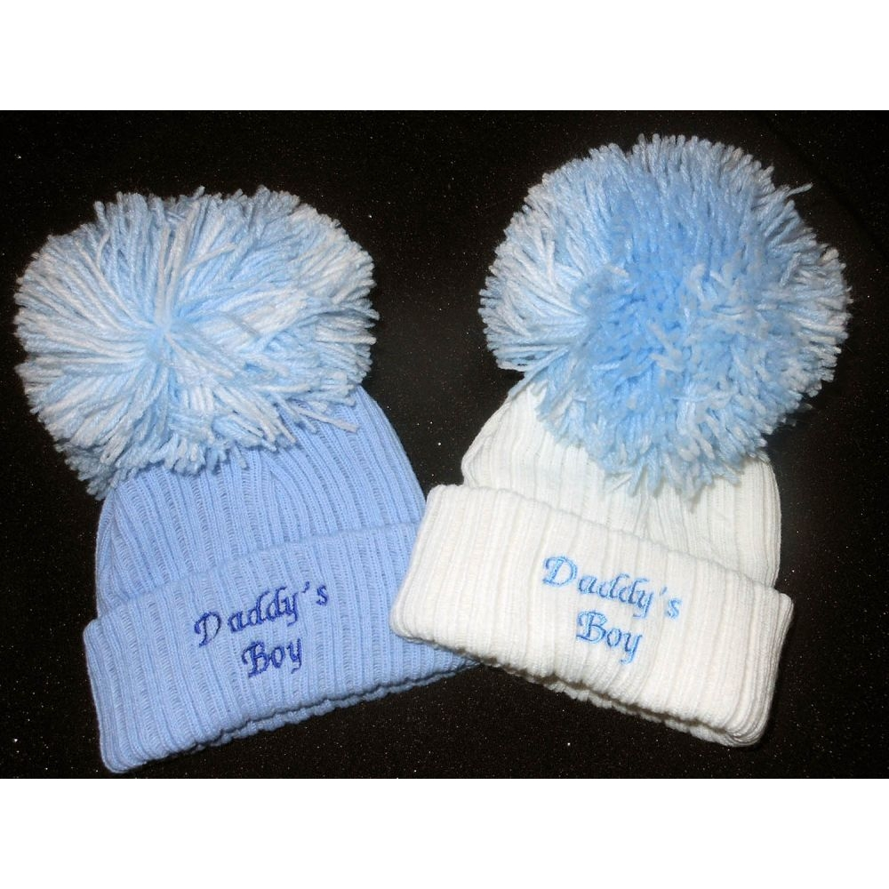Hats and Headbands - Small Daddys Boy Pom Hat - Wholesale Supplier ... 3acfb38abbf