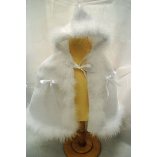 White Fur Cape                    crw15