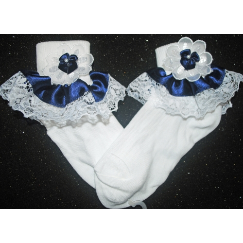 BLUE FRILL SOCKS                      sox6