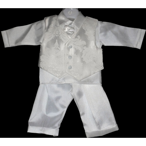 White Cravat Boys suit    cr200