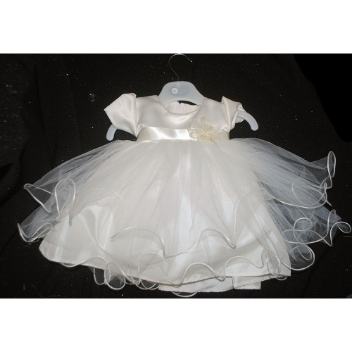Ivory Short Christening Dress                     5041I