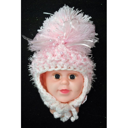 Hats and Headbands - Large Baby Boo Pom Pom Hat - Wholesale Supplier ... ab3a00b3c48