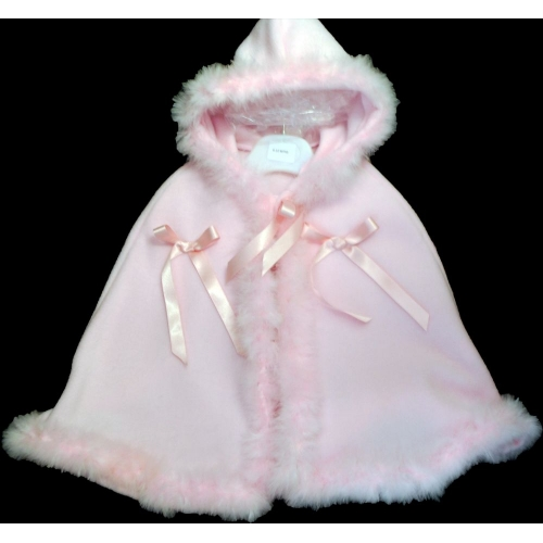 Hooded Pink Cape                                  ca2